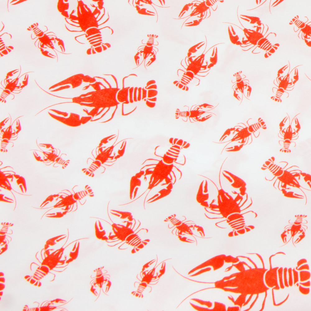108 Quot Crawfish Print Table Runner Red On White