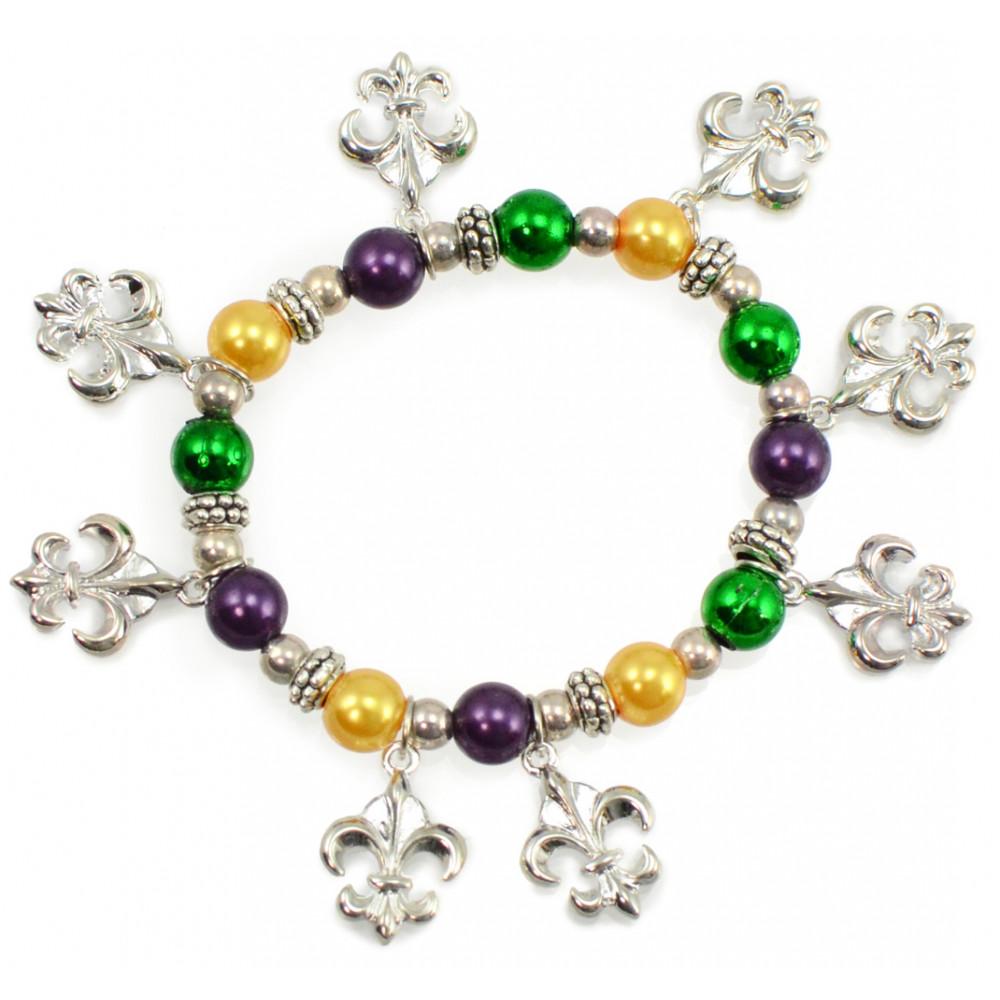 Fleur De Lis Charm Bracelet