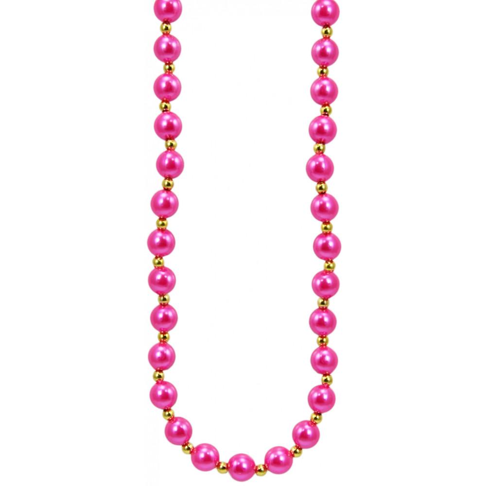 Hot Pink Pearls Necklace [] - MardiGrasOutlet.com