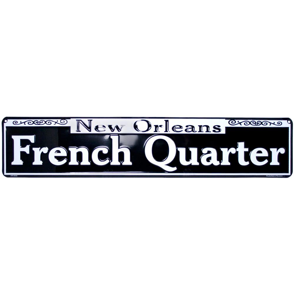 Tin French Quarter Street Sign [] - MardiGrasOutlet.com