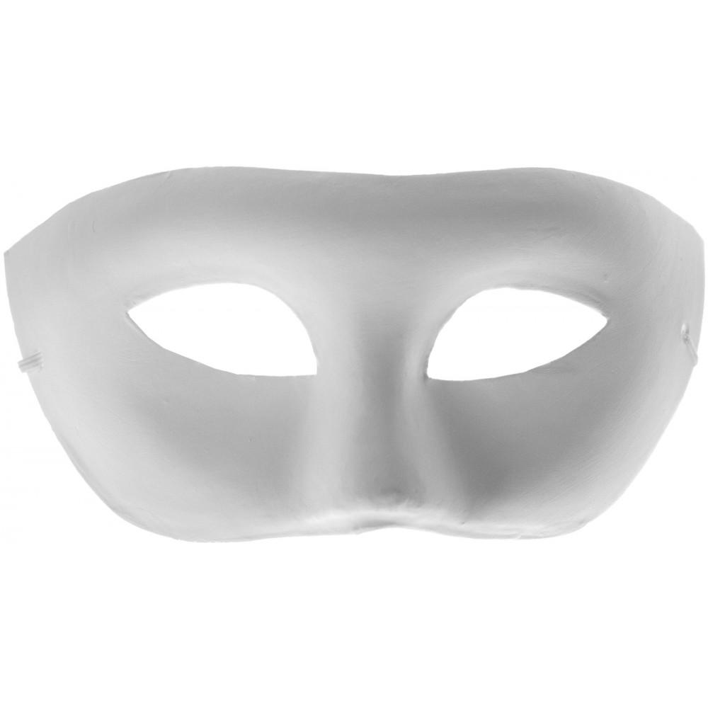 Unpainted Paper Mache Eye Mask [] - MardiGrasOutlet.com