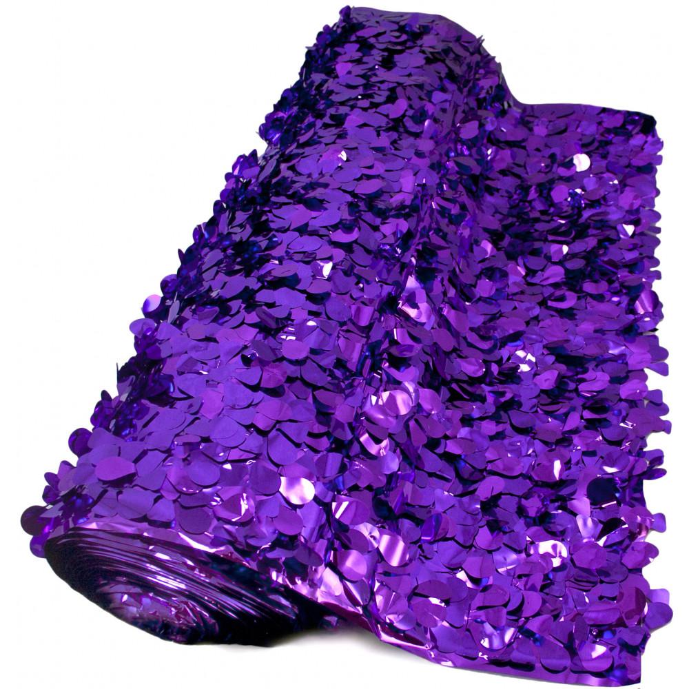 Floral Sheeting Petal Paper Metallic Purple 10 Yards