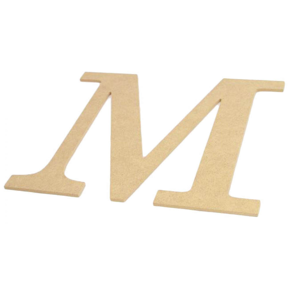10 decorative wood letter m