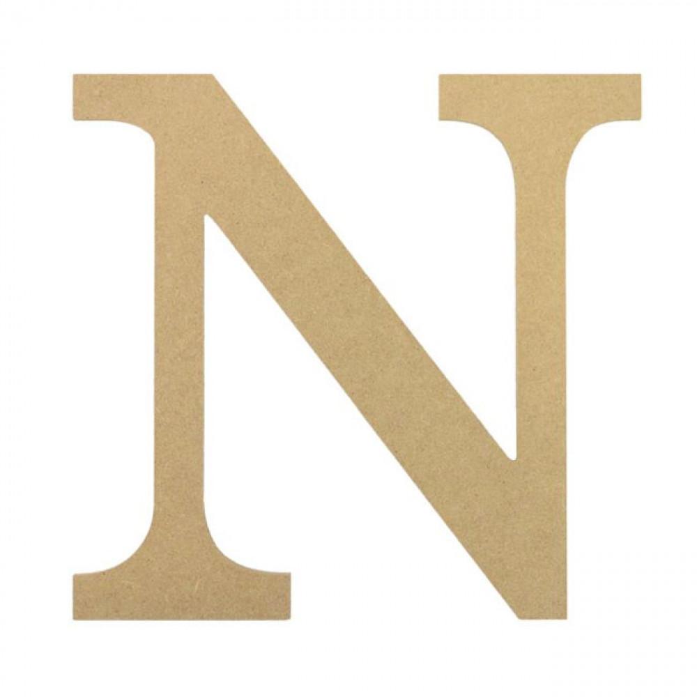 "10"" Decorative Wood Letter: N [AB2038]"