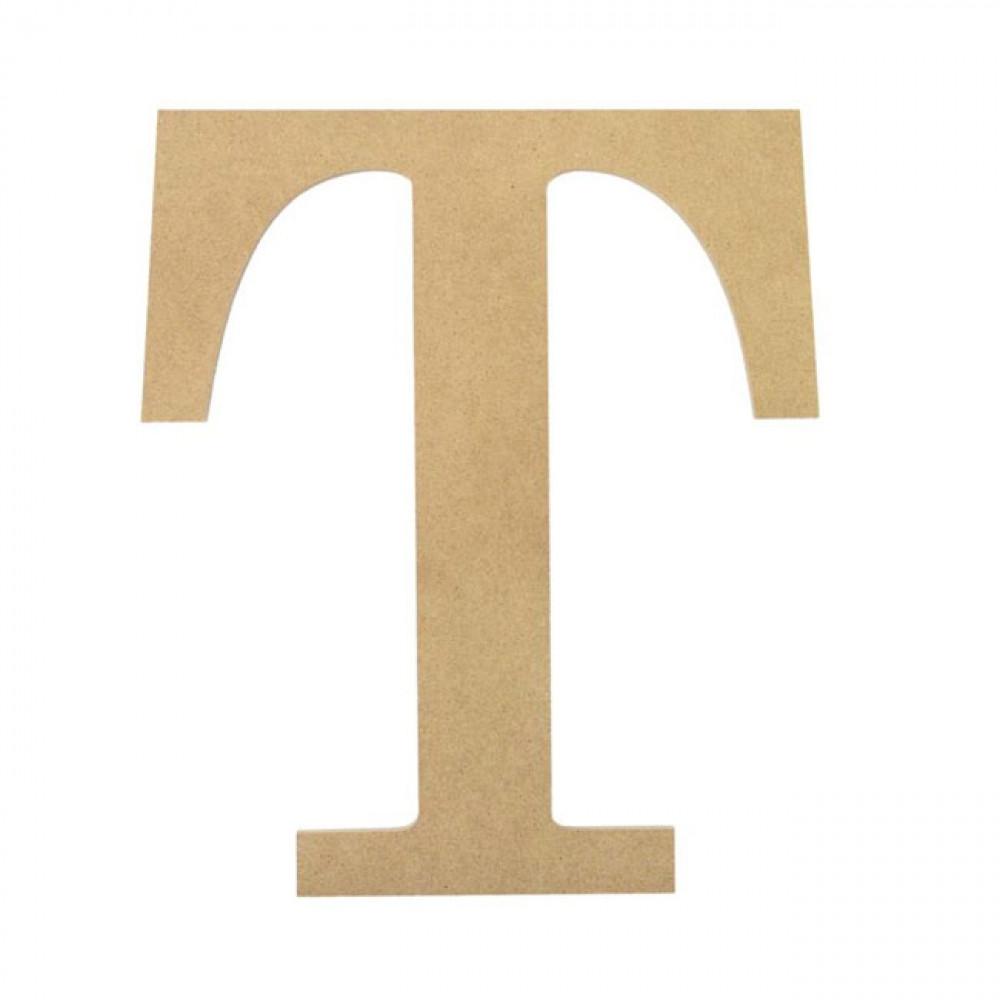 10quot decorative wood letter t ab2044 mardigrasoutletcom With decorative letter t