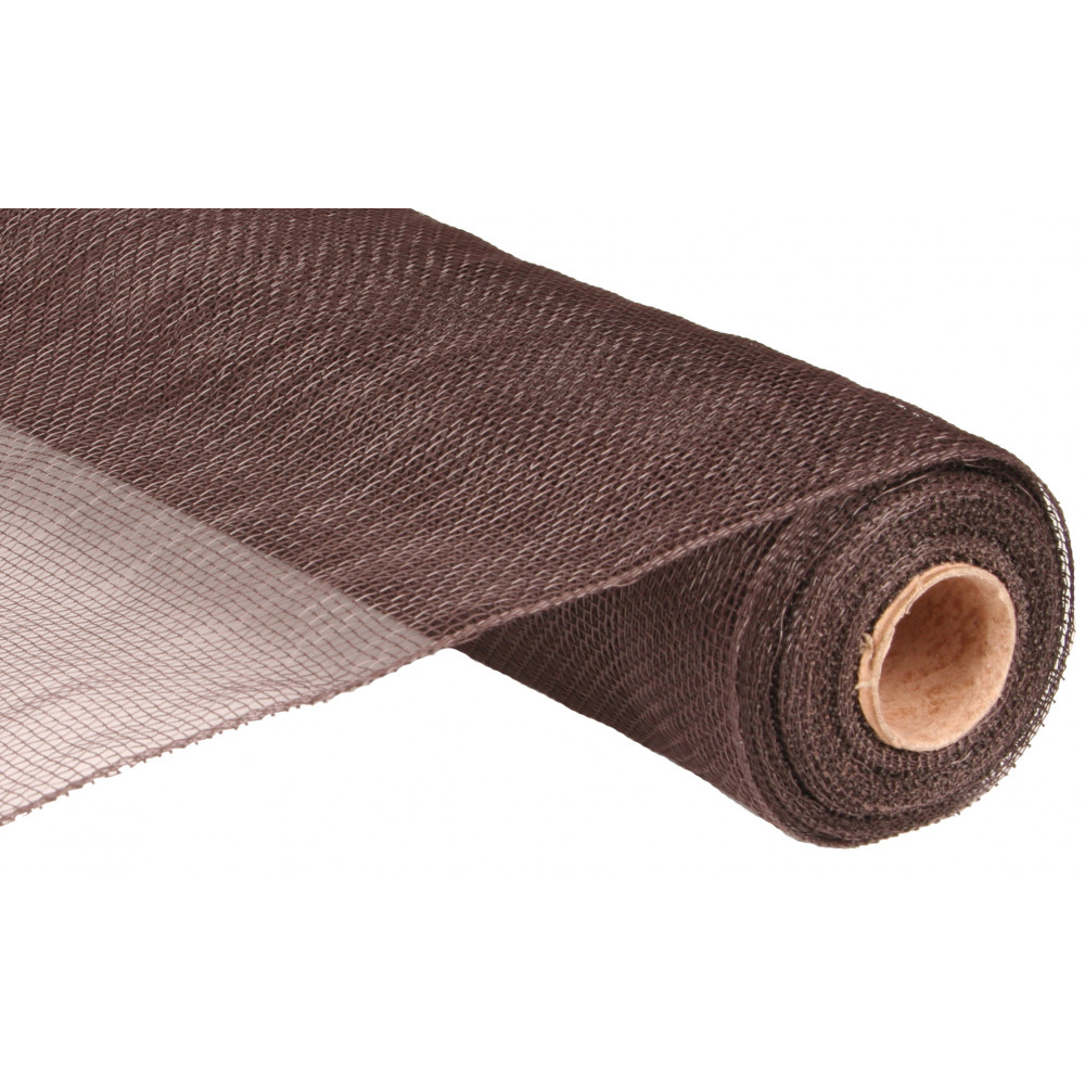 21 Quot Poly Mesh Roll Chocolate Brown Re1002c8