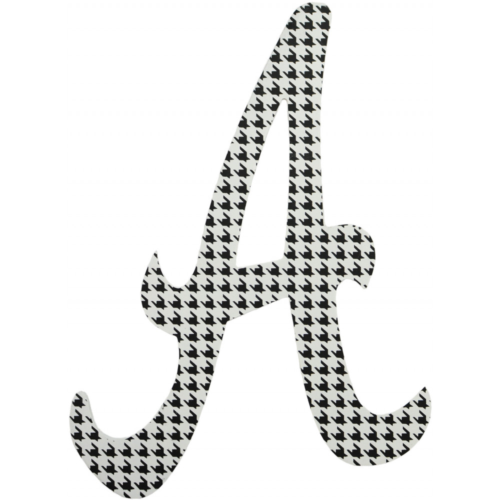 Decorative Letter A.10 Script Houndstooth Letter A