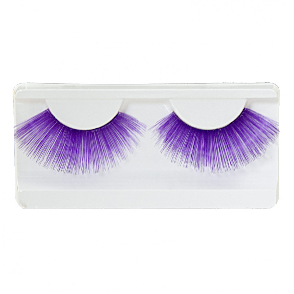 d2debba8c08 Purple Fake Eyelashes Pair [27342PLAO] - MardiGrasOutlet.com