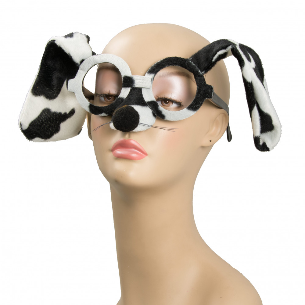 Plush Black Amp White Fur Dog Glasses 27001bwao