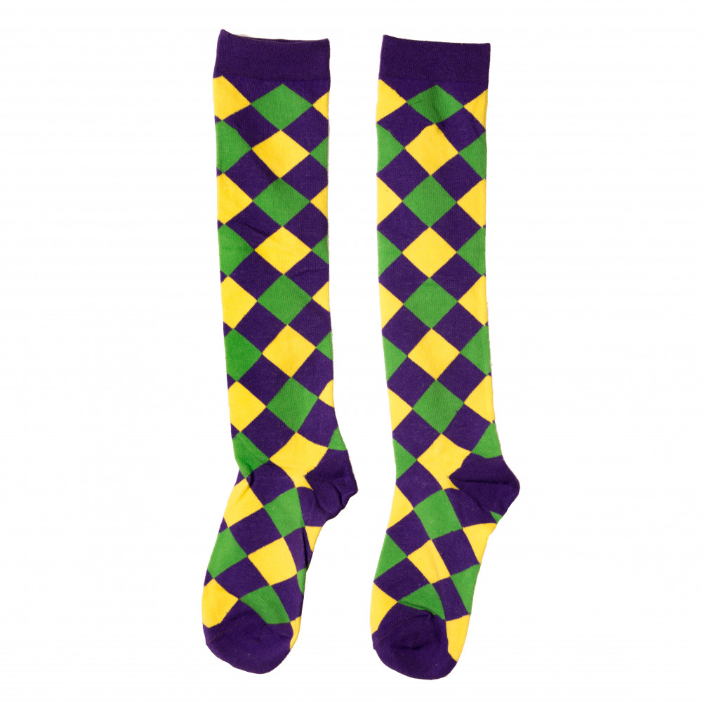 011f5c9411c Diamond Cotton PGG Knee Socks  11-130  - MardiGrasOutlet.com