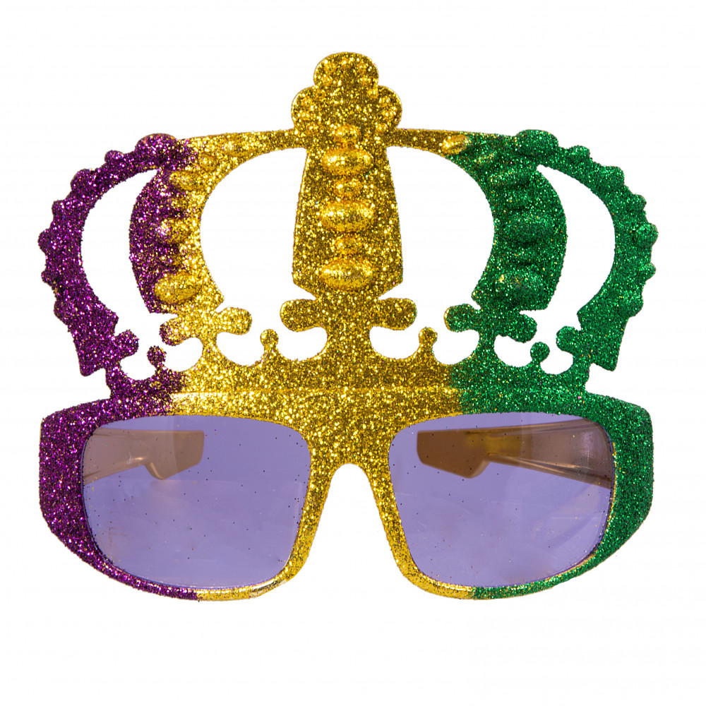 Metallic Glitter Mardi Gras Crown Sunglasses [MG47-107 ...