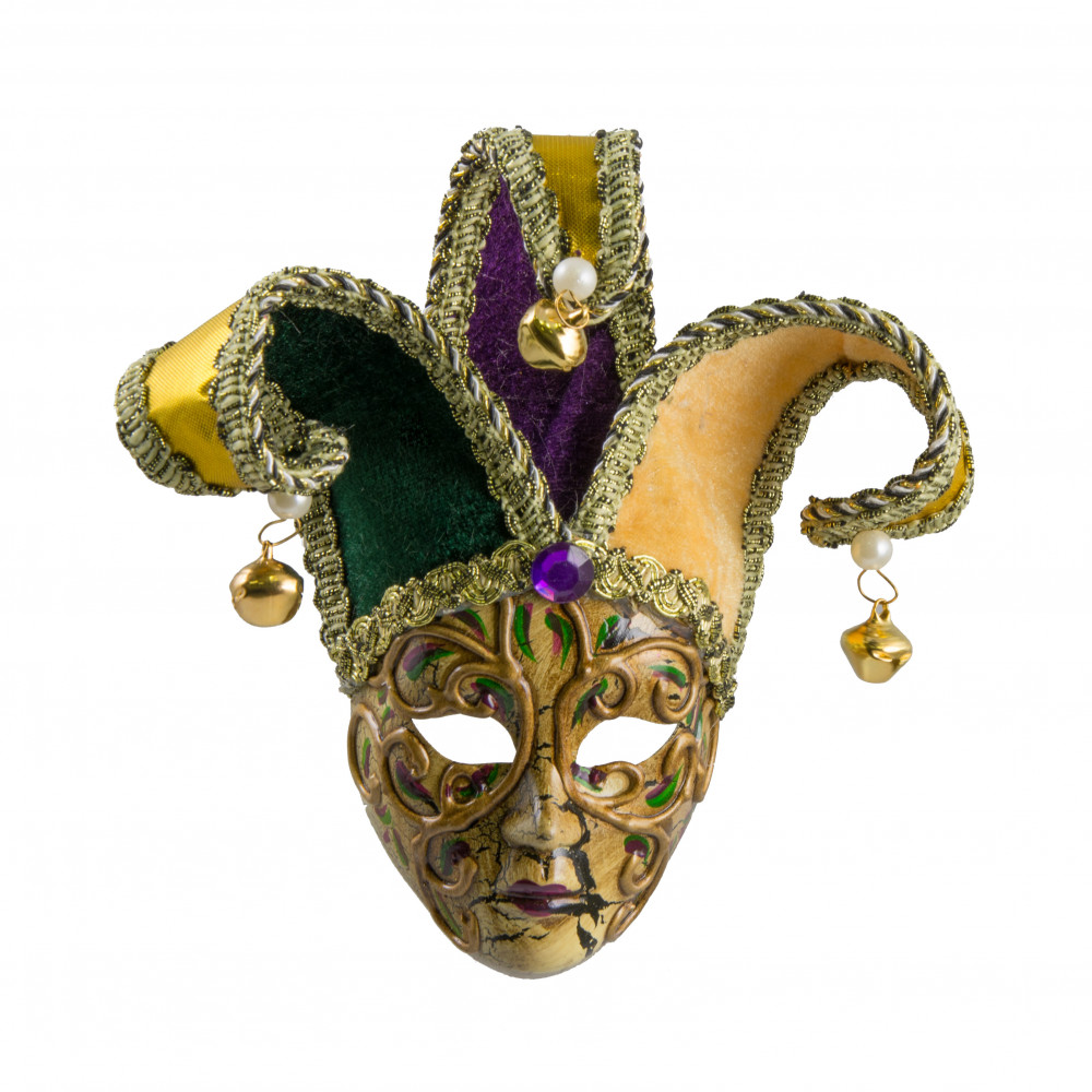 Swirl Jester Mardi Gras Mask Ornament [MG20-310 ...