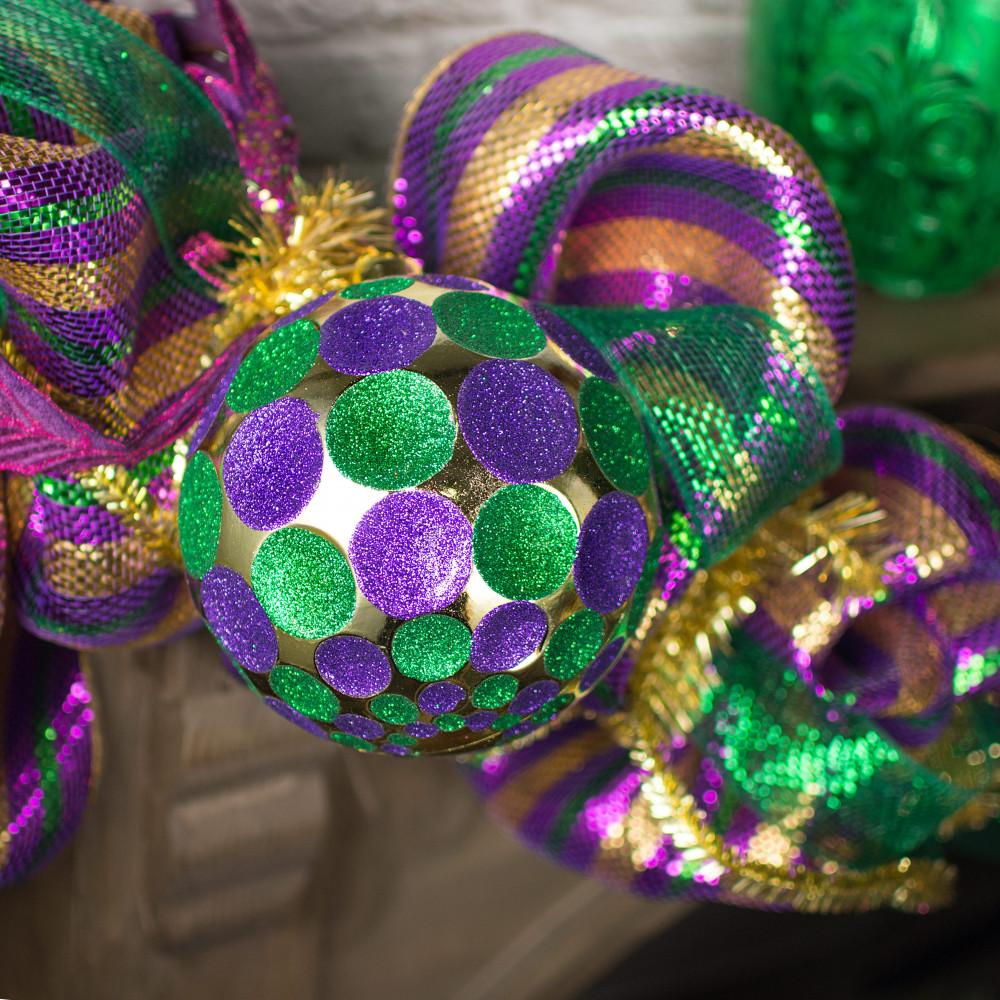 150MM Indent Dot Ball Ornament: Mardi Gras [XY801858 ...