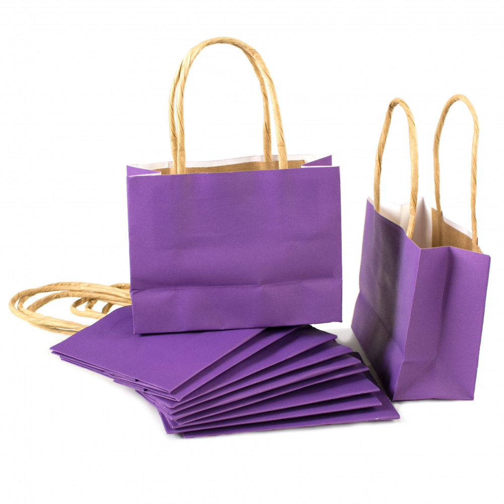 6 Quot Small Gift Bags Purple 12 Otc13697500