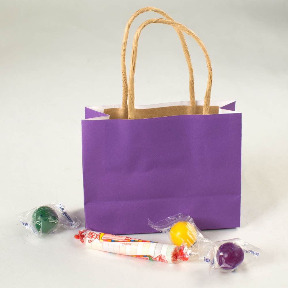 6 Quot Small Gift Bags Purple 12 Otc13697500 Mardigrasoutlet Com
