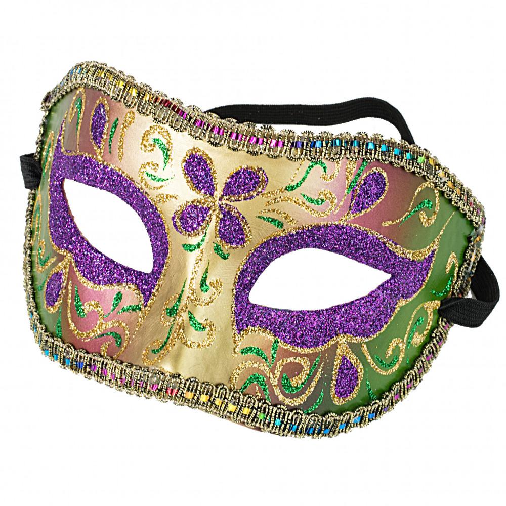 Glitter Flower Paper Mache Mask 27850mgaj Mardigrasoutlet