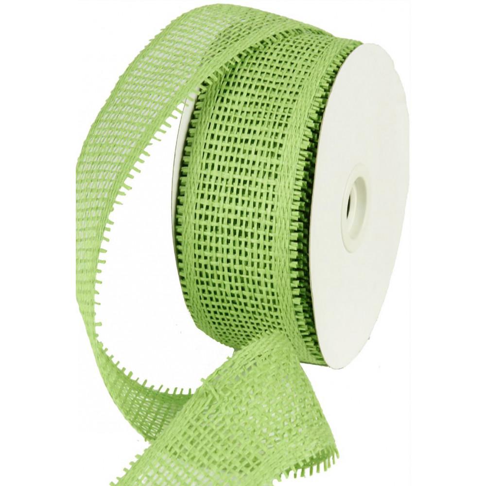 2 5 Quot Paper Mesh Ribbon Lime Green Rr600133