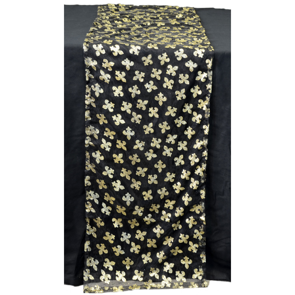 Fleur De Lis Table Runner: Black ...