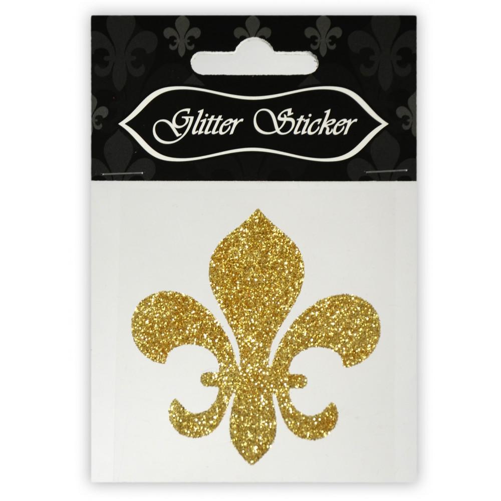 Fleur de Lis Gold Sticker [S-W1002] - MardiGrasOutlet.com