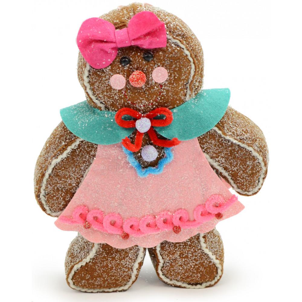 Felt Gingerbread Girl Decoration 10 Quot 3220017g