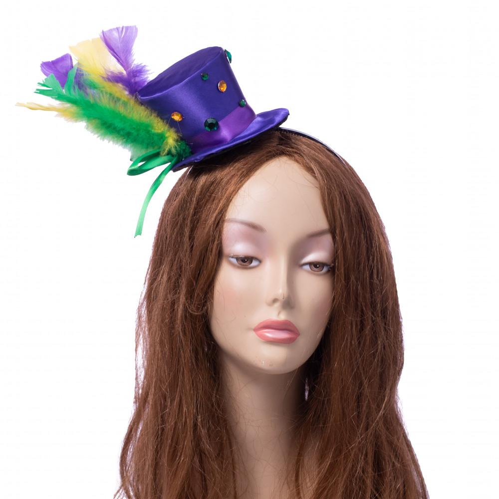 cfd93627e5aa1 Mardi Gras Top Hat Headband  28601MGAJ  - MardiGrasOutlet.com