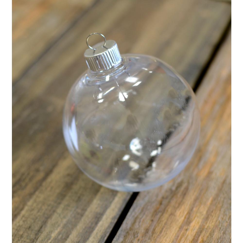 Plastic ornament - Clear Plastic Ball Ornament 83mm
