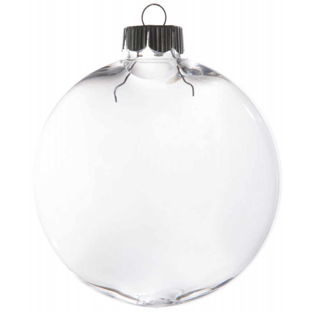 Clear oval ball ornament 80mm 2610 63 for Clear christmas bulbs for crafting