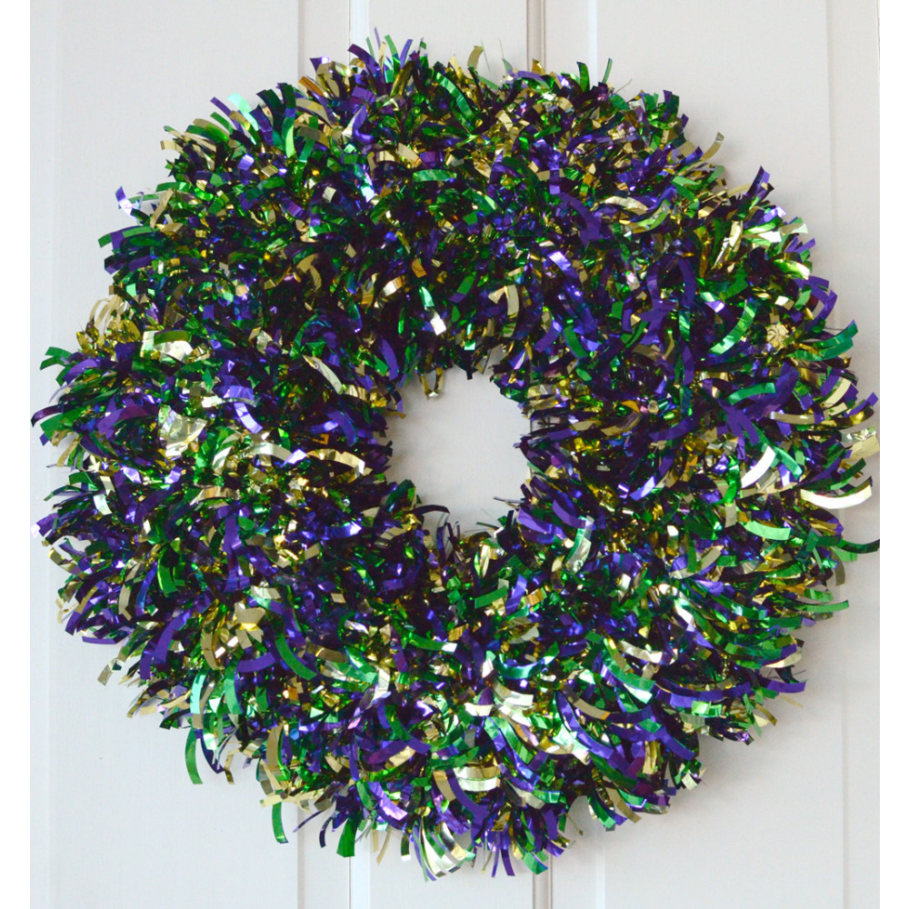 Quot metallic tinsel wreath pgg mg