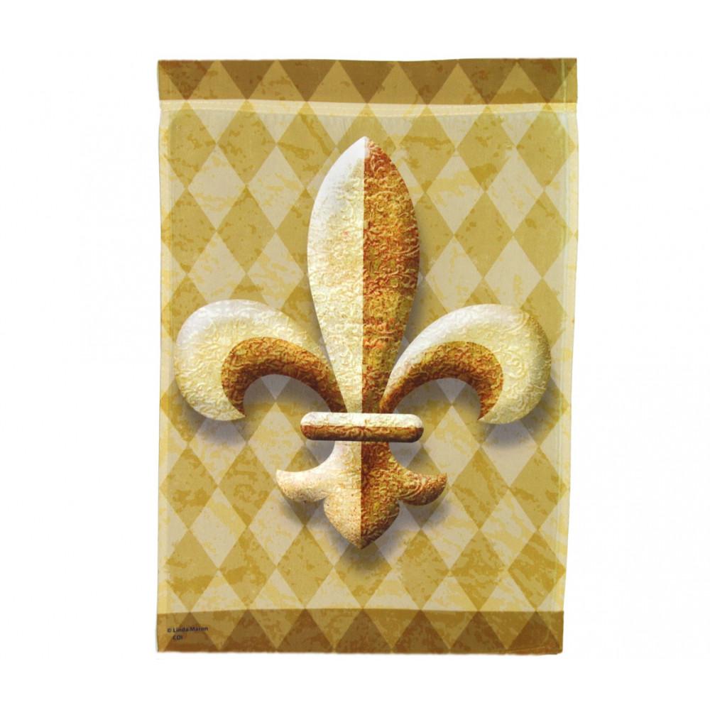 Gold Fleur De Lis Garden Flag