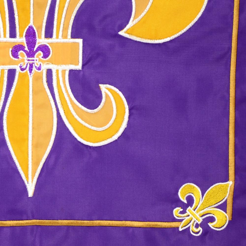 Purple U0026 Gold Fleur De Lis Garden Flag