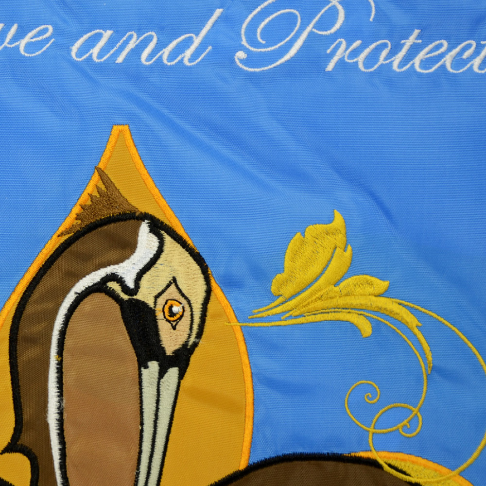 Pelican Fleur De Lis Garden Flag