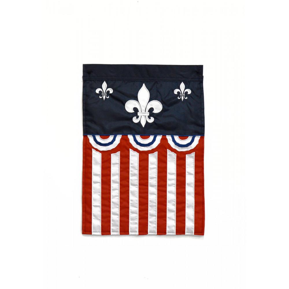 American Fleur De Lis Garden Flag