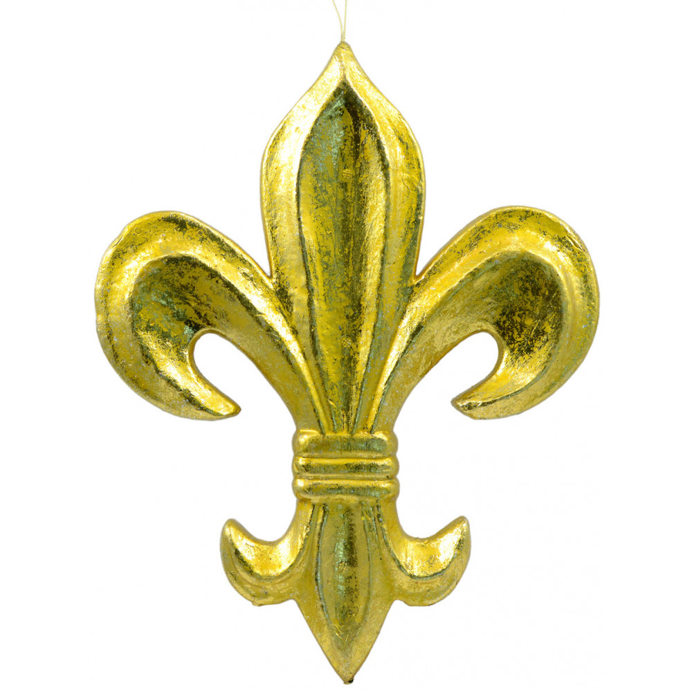 16 Gold Leaf Fleur De Lis Decoration