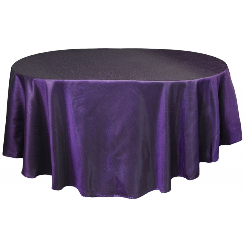 "Faux Dupioni 96"" Round Tablecloth: Purple [RF2284A5 ..."