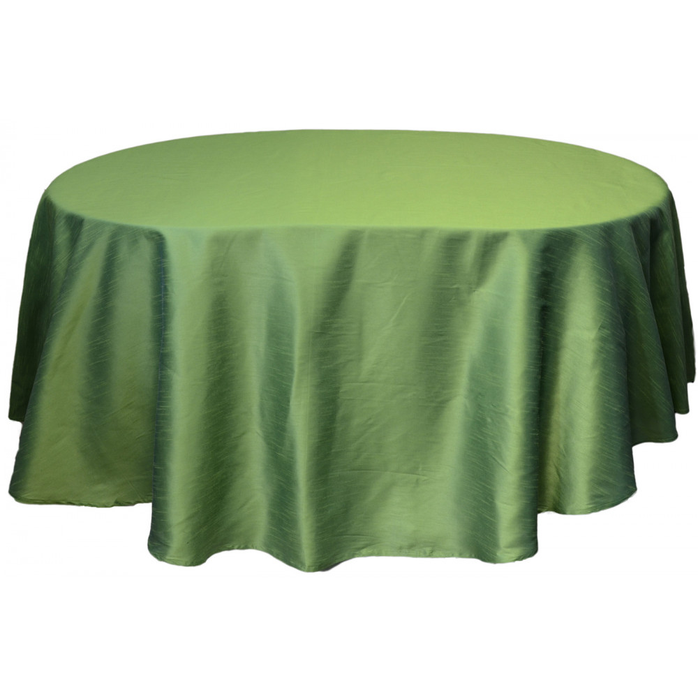 Faux Dupioni 96 Quot Round Tablecloth Green Rf2284a7