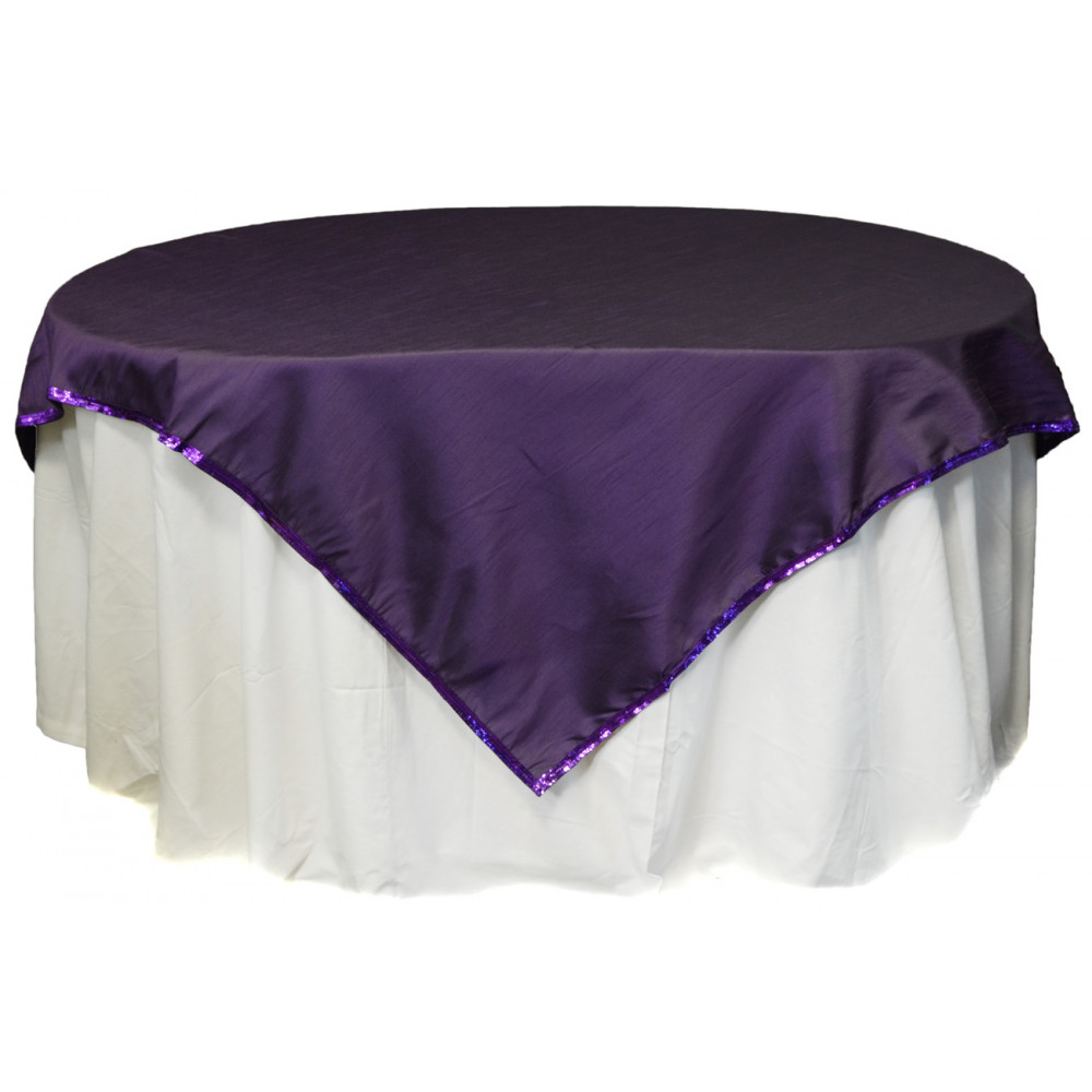 Faux Dupioni 54 Quot Square Tablecloth Purple Rf2286a5