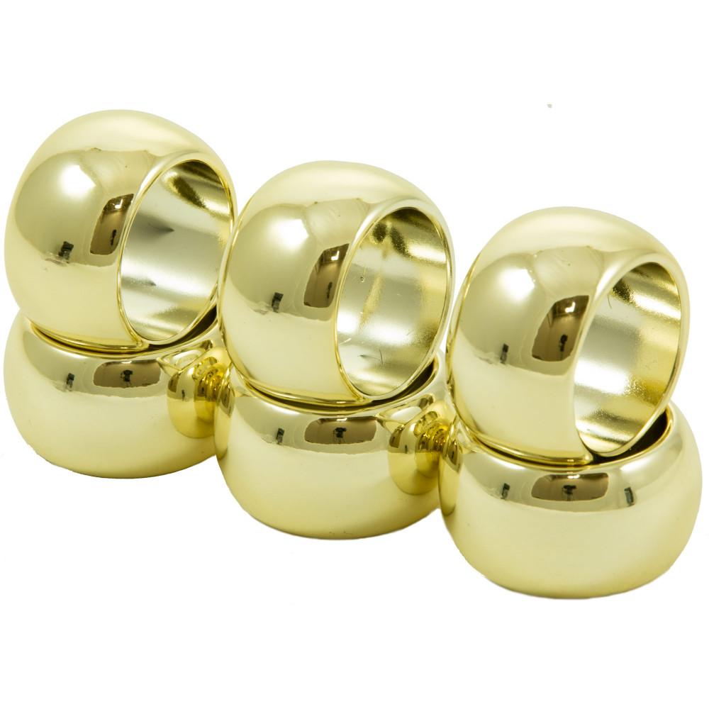 plastic napkin rings metallic gold 6 1629 gold