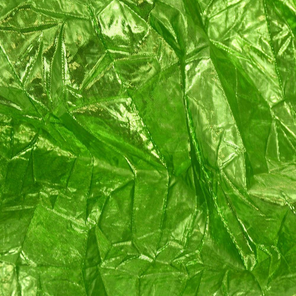 Crushed Metallic Lam 233 Fabric Roll Lime Green Rf106130