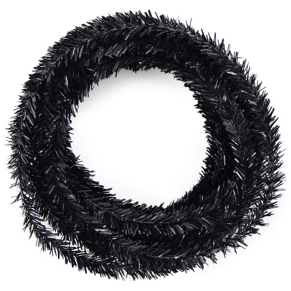 Metallic tinsel roping black xg