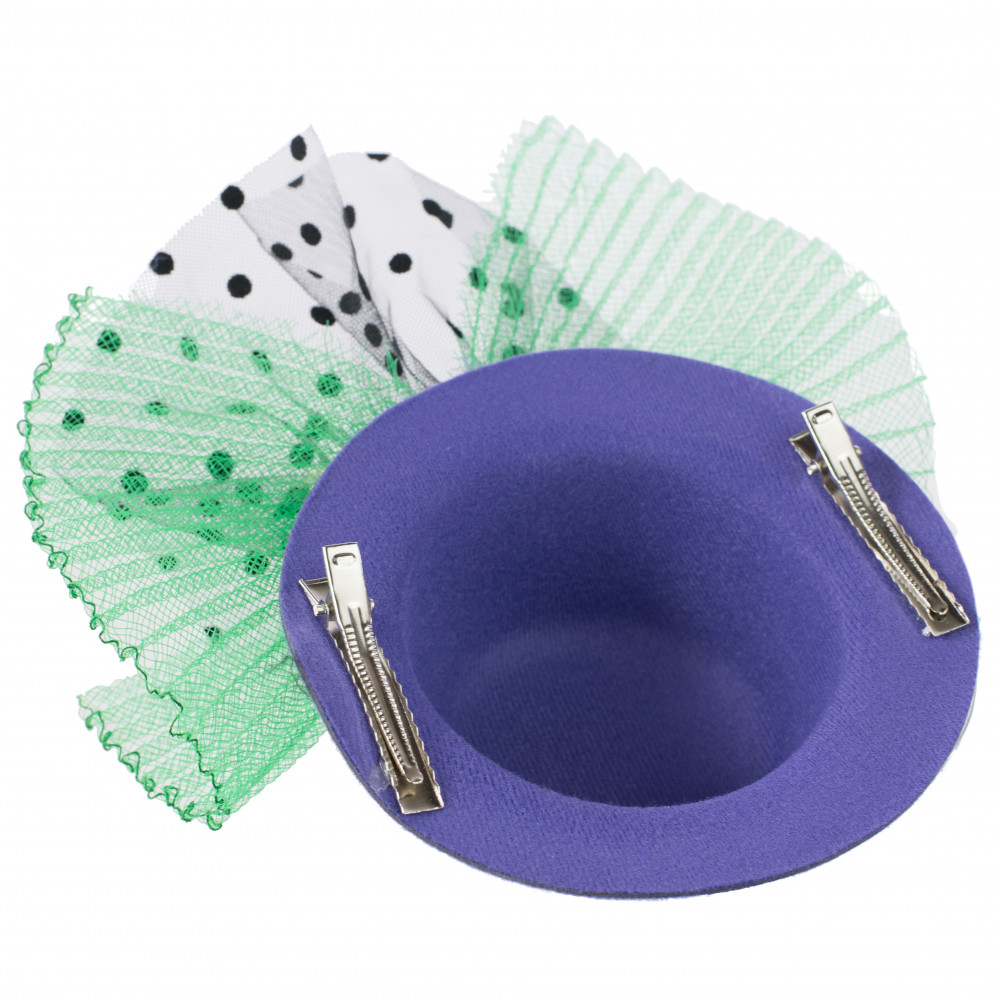 e5039f43e69f1 Mardi Gras Mini Top Hat Fascinator: PGG