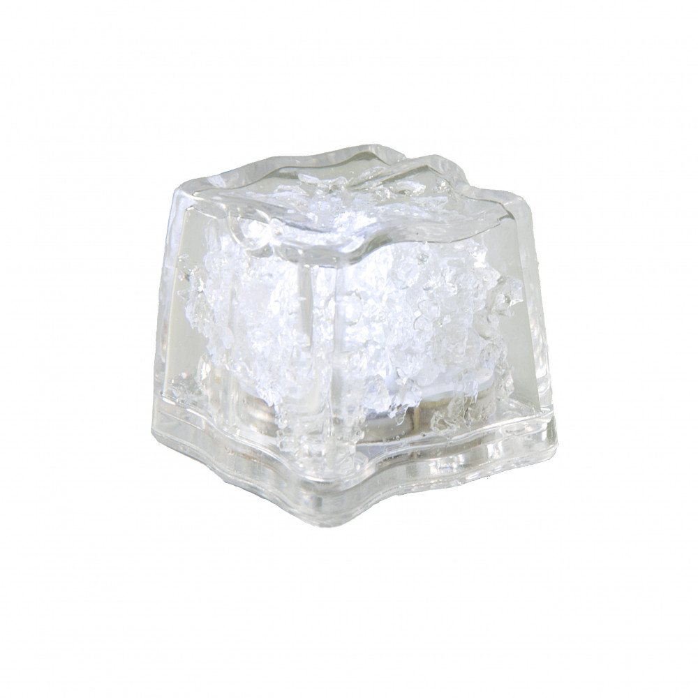 Water Proof Ice Cube Floral Light 5727 White