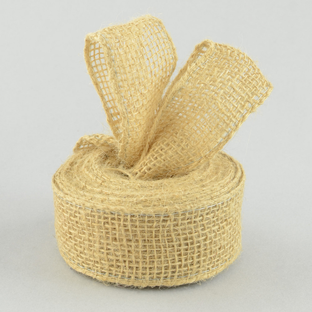 1 5 jute burlap loose weave wired ribbon natural 10 for How to use burlap ribbon