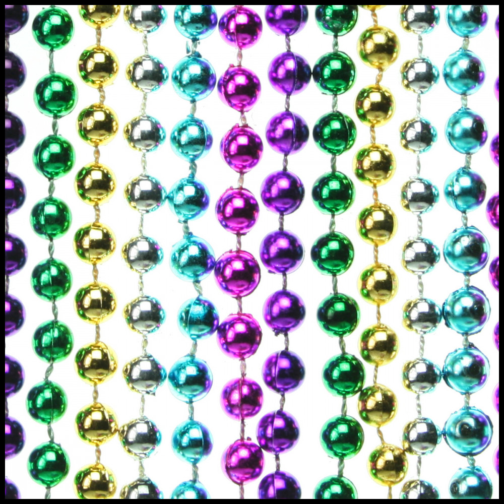 7mm 33-inch Round Beads, 6-Color Assorted [733M-6CA