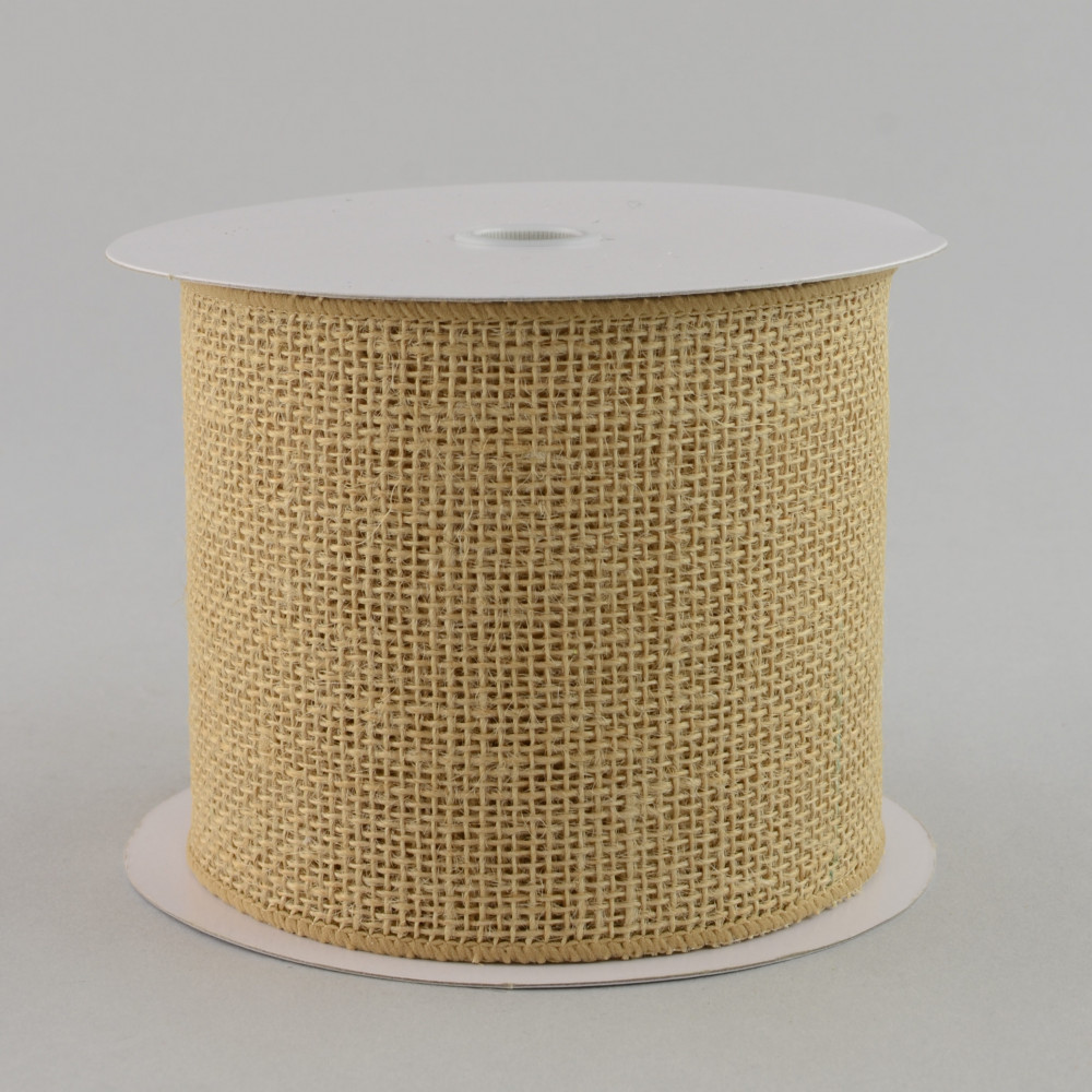 4 Quot Burlap Ribbon Tight Weave Natural 10 Yards X125204