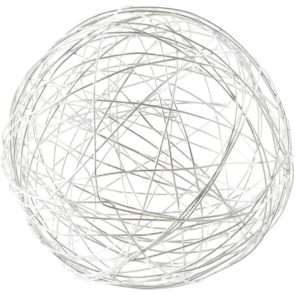 3 u0026quot  wire balls  silver  6   xq12835-20