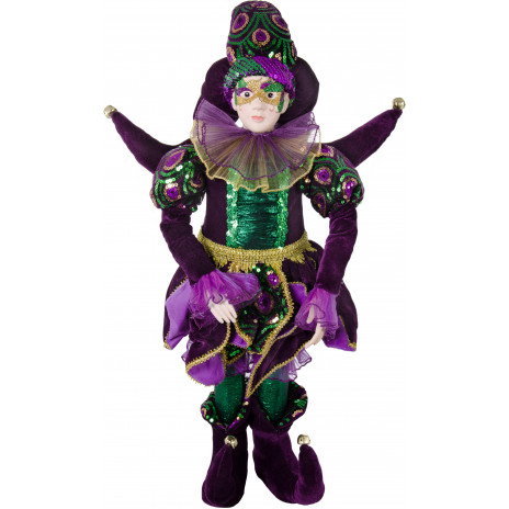 28 Quot Deluxe Standing Mardi Gras Jester Doll 72824