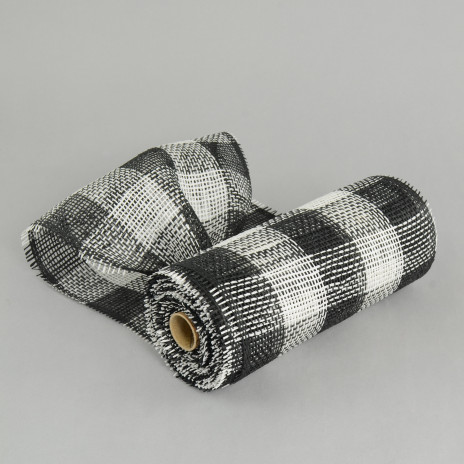10 Quot Paper Mesh Roll Black White Plaid Rr800240