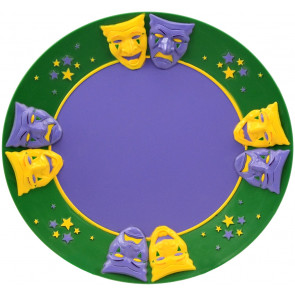 Mardi Gras Serving Tray ...  sc 1 st  Mardi Gras Outlet & Disposable Tableware - MardiGrasOutlet.com