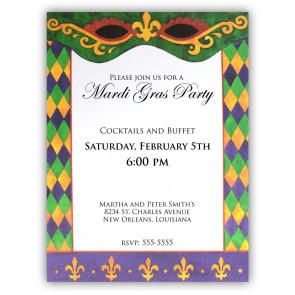 Mardi Gras Invitations - MardiGrasOutlet.com