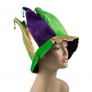 ... Lamé   Velvet 6-Point Mardi Gras Jester Hat 07010b2deaeb